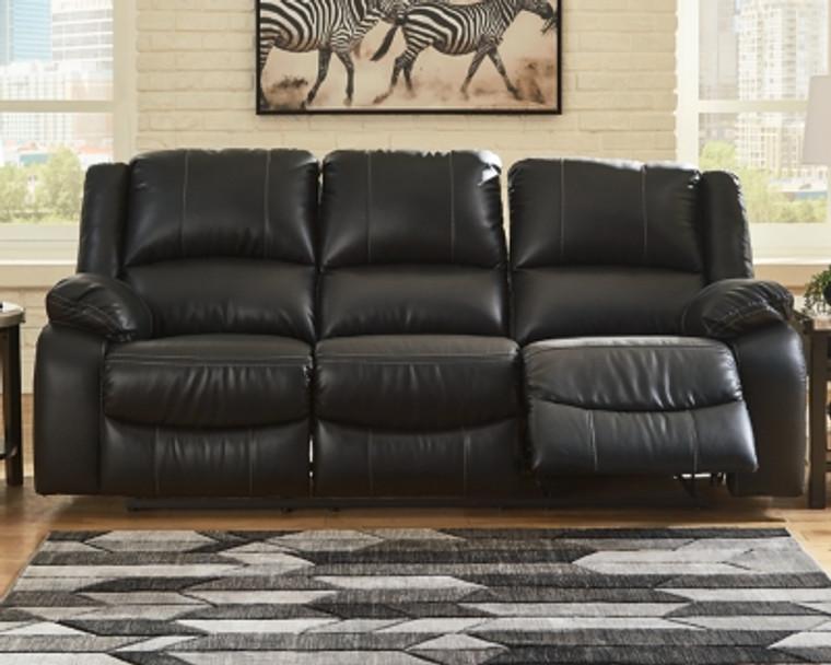 Calderwell Reclining Sofa   Black   7710188