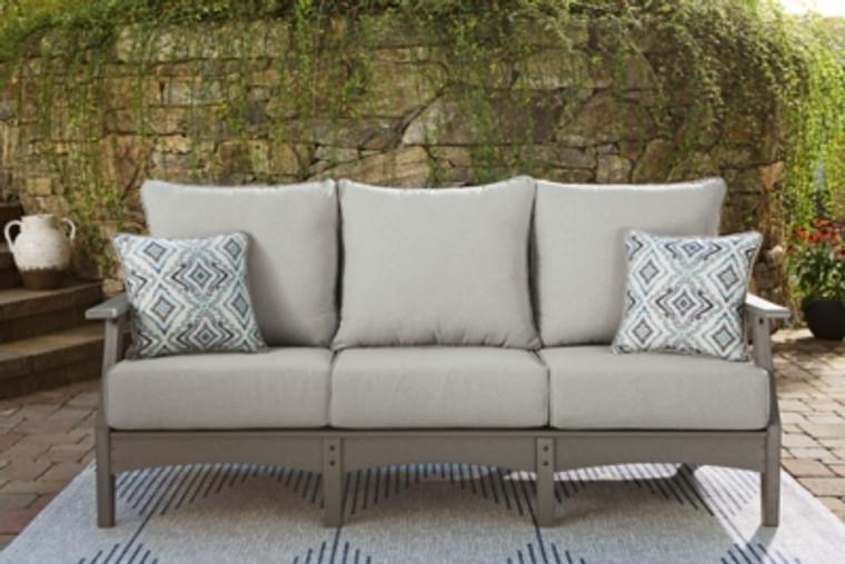 Visola Outdoor Sofa with Cushion | Gray | P802-838