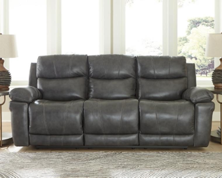 Edmar Power Reclining Sofa | Charcoal | U6480615