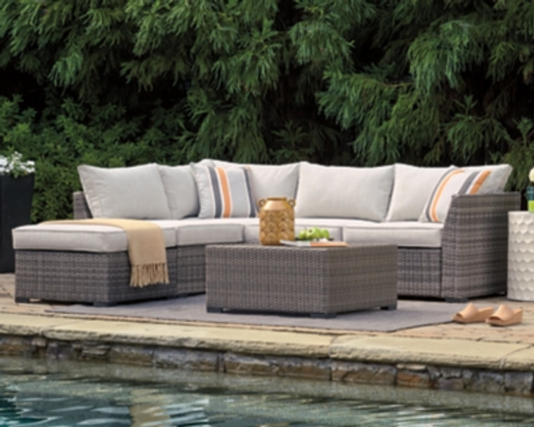 Cherry Point 4-piece Outdoor Sectional Set | Gray | P301-070