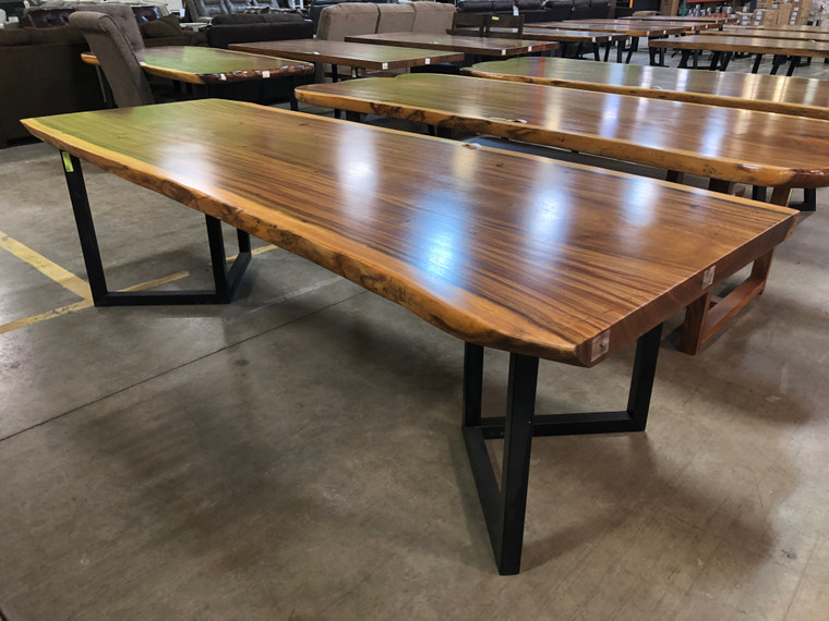 """Live Edge 104"""" Dining Table"""