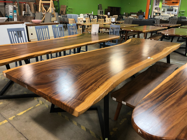 """Live Edge 126"""" Dining Table"""