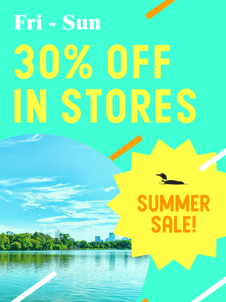 Save thirty percent in our stores this Friday through Sunday!