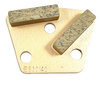 9mm hole- iron horse compatible trapezoid diamond- gold