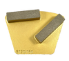 STI 2 button back with two bars- gold