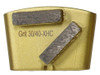 HTC compatible 2 bar wing back 30/40 grit for extra hard concrete