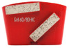 HTC compatible 2 bar wing back 60/80 grit for hard concrete
