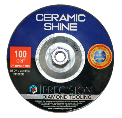 "7"" Ceramic Shine Cup Wheel"