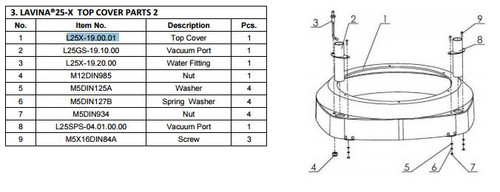 Top Cover Assembly L25-X