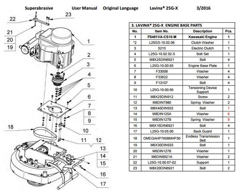 Engine Base Plate L25/30G
