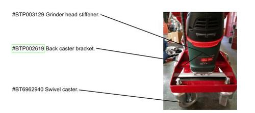 Back Caster Bracket BP-9-110V