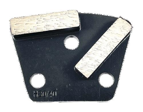 9mm hole- Iron horse compatible trapezoid diamond- black
