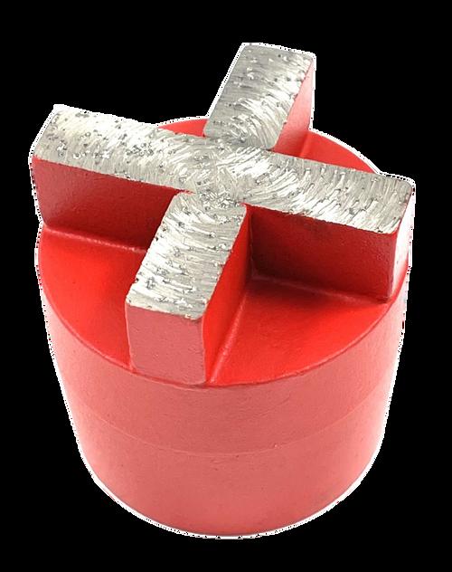 plug style diamond with x-segment- red