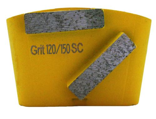 HTC compatible 2 bar wing back 120/150 grit for soft concrete