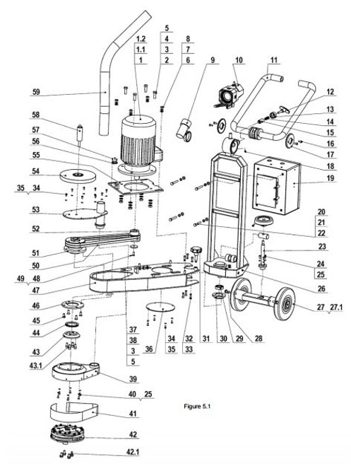 Motor base assembly L-7