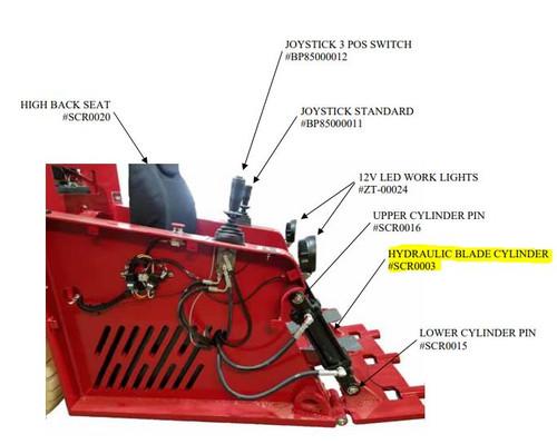 Scraper Hydraulic Cylinder