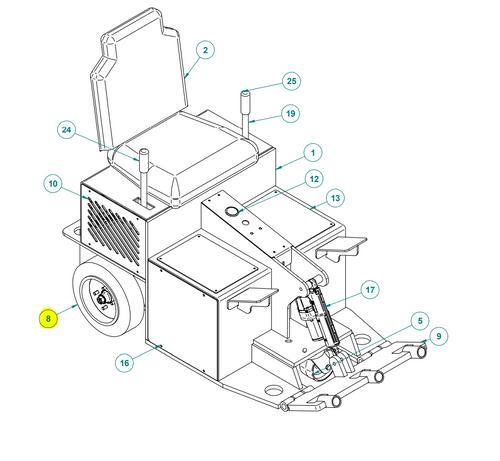 Rear Wheel Assembly BRB-1500