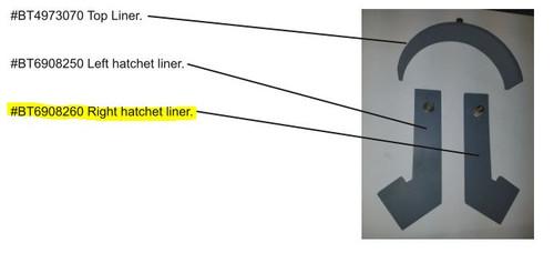 Right Hatchet Liner BP-9