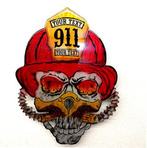 Fire Fighter Custom Skull