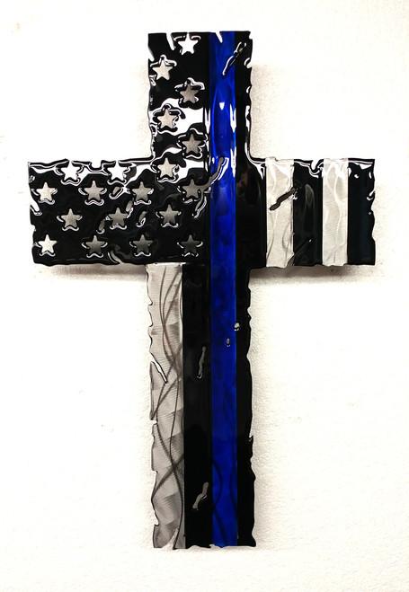 "Blue Line Cross  24"""