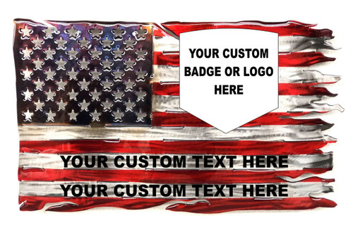 Tattered Stars And Stripes Customized