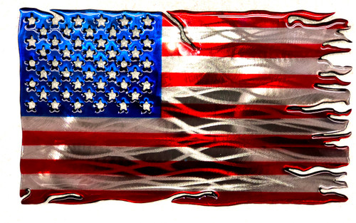 """Tattered Stars and Stripes 16"""""""