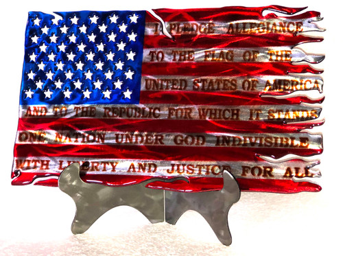 Stars and Stripes Tattered Pledge 16 inch