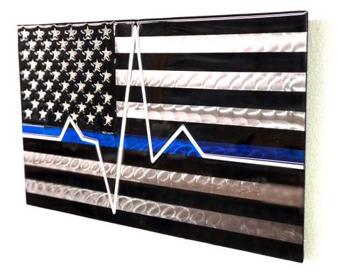 Blue Line EKG Flag