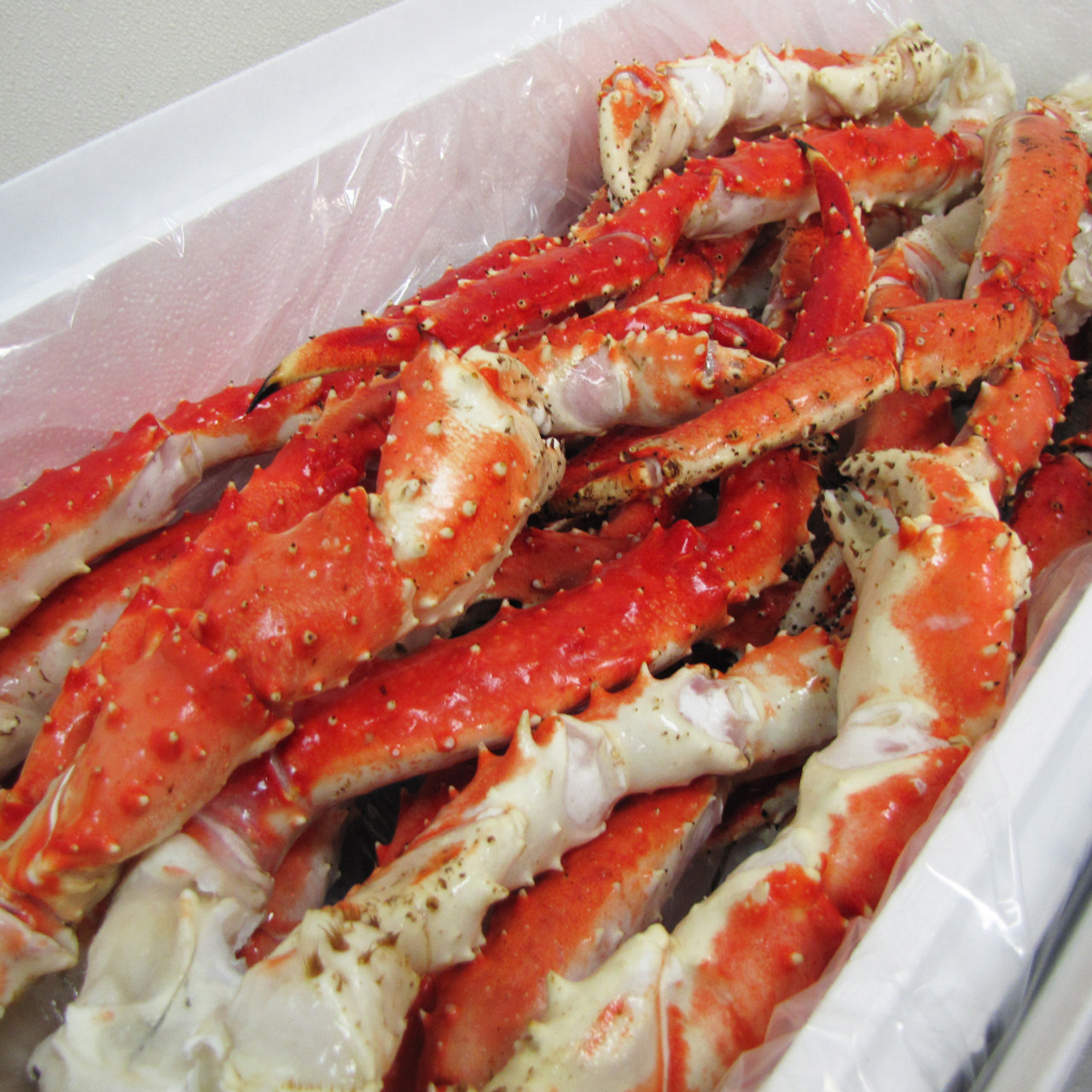 20 Lb Case Alaska Red King Crab Legs Claws Fishex Seafoods