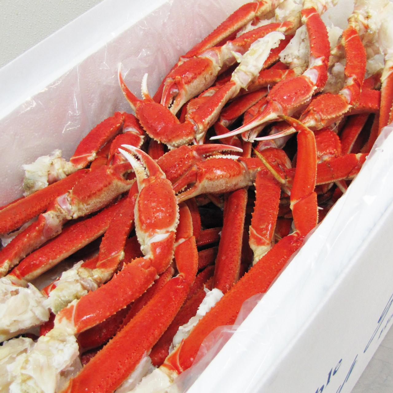 20 Lb Case Giant Alaska Snow Crab Bairdi Legs Claws Fishex Seafoods
