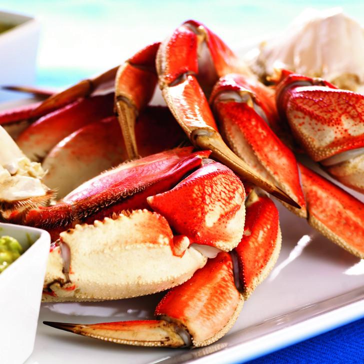 An Alaska Dungeness crab cluster.