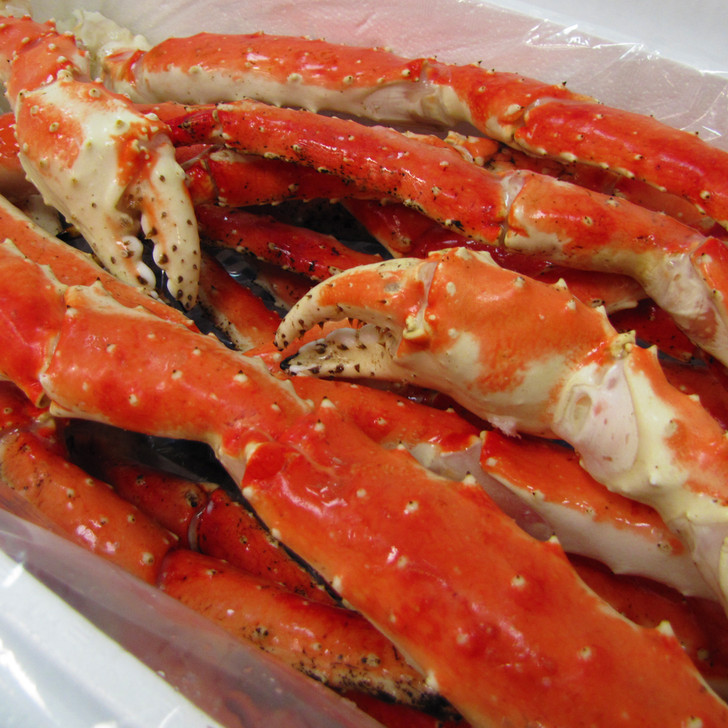 Case of Captain's Limited Reserve giant red king crab legs & claws.