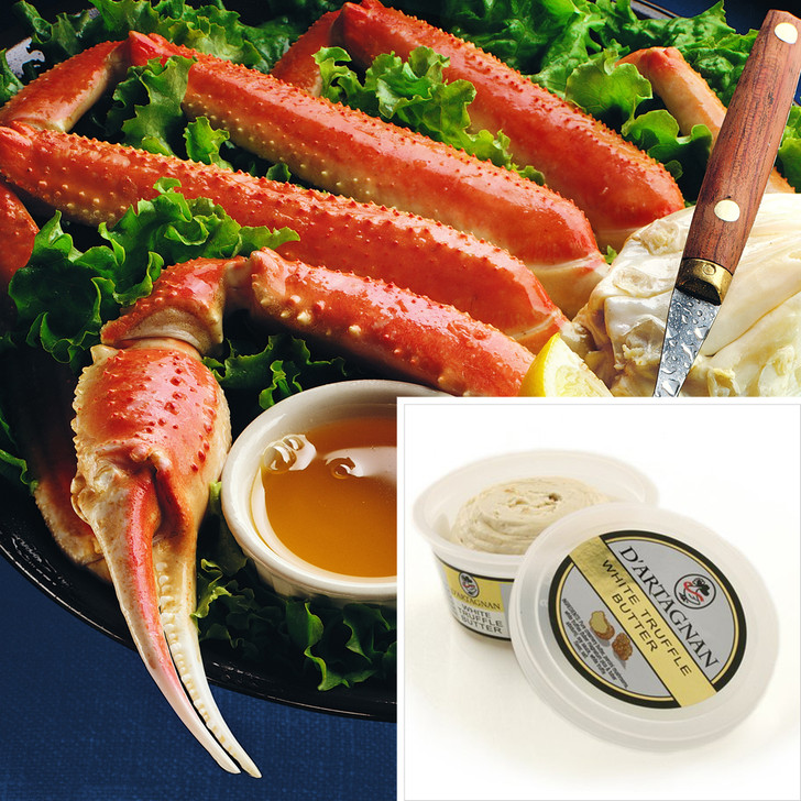 Giant Alaska snow crab legs & white truffle butter.