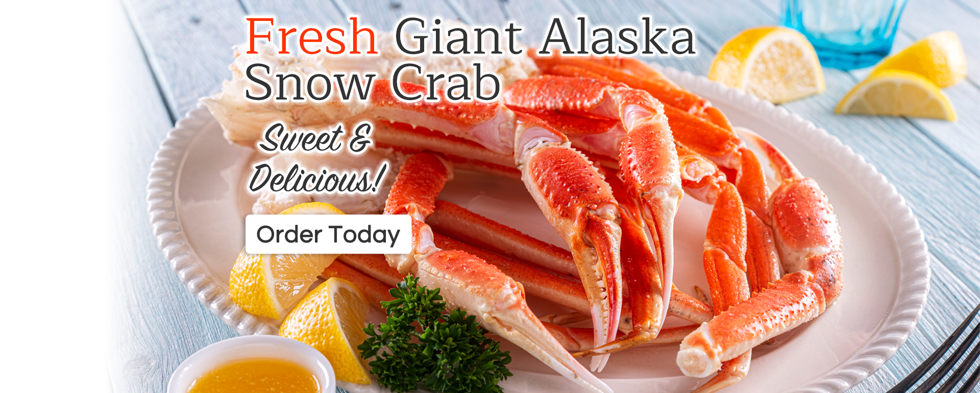 Fresh Giant Alaska Snow Crab