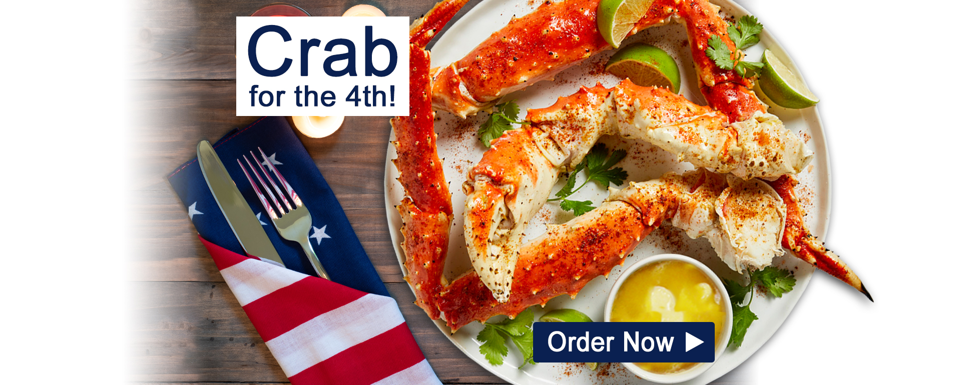 Giant King Crab for 4th of July!