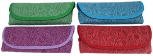 tonal stencil floral pattern deboss in 4 eye catching colors - purple, red, teal, green (shown in teal)