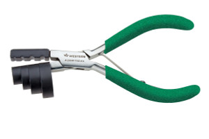 Temple Bending Plier – Premium Model #2004F, Green Foam Handle