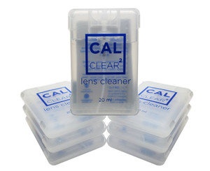 White 20 ml Square Lens Cleaner (20MLSQSPRCCLR000-WHT)