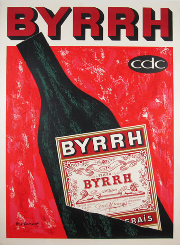 Byrrh original advertising lithography vintage poster by Guy Georget from 1961 France.