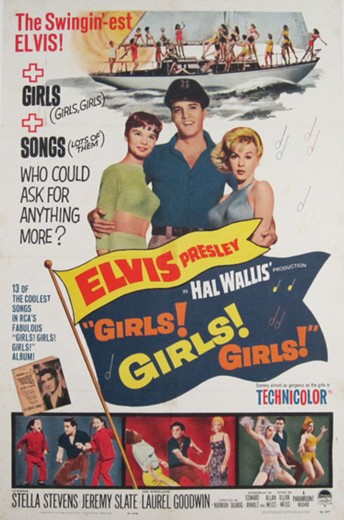 Girls! Girls! Girls! original advertising lithography vintage poster from 1962 USA.