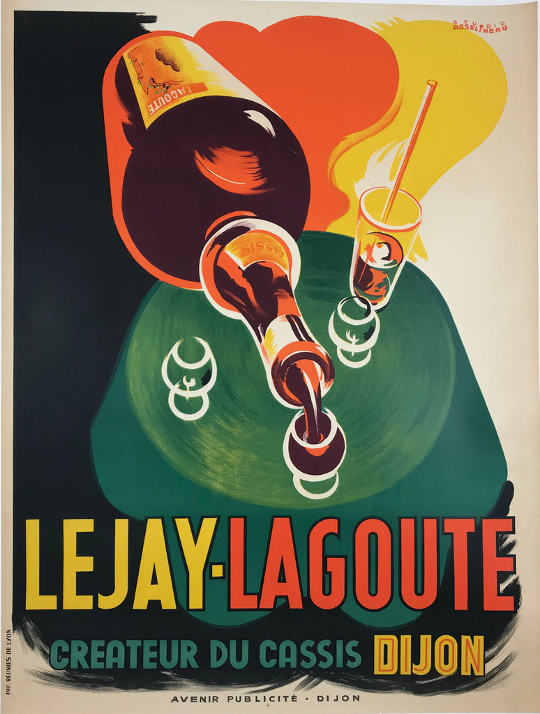Lejay Lagoute original advertising lithography vintage poster from 1935 France .