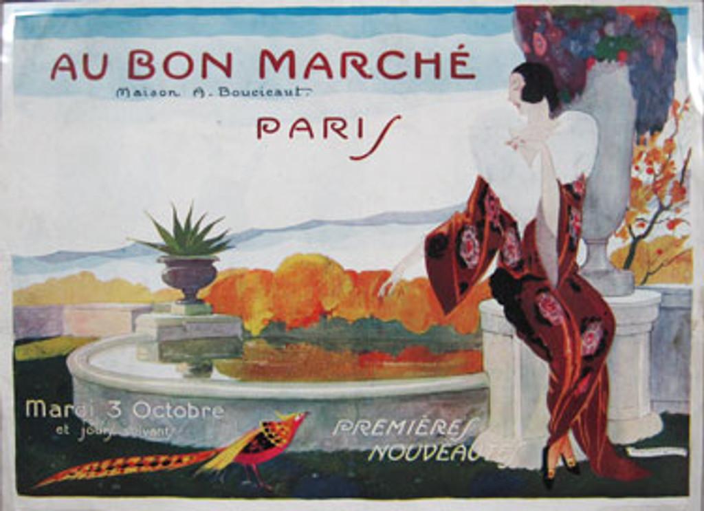 Au bon Marche department store complete magazine catalogue by brunelleshi original vintage advertising lithography