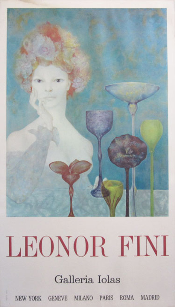 Leonor Fini original advertisement lithography vintage poster Sergio Tosi Printer in 1970 Italy.