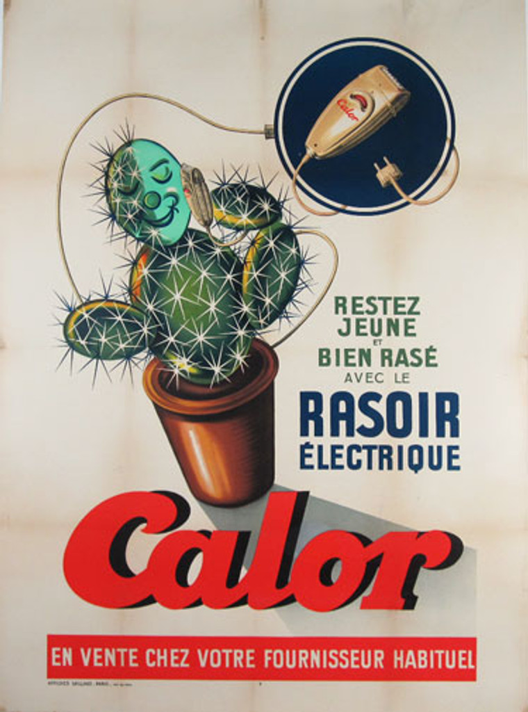 Calor original advertising lithograph vintage poster from France 1930
