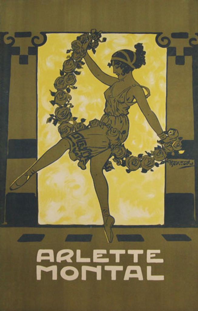 Arlette Montal original vintage advertising lithograph poster by Bernard from 1914 France