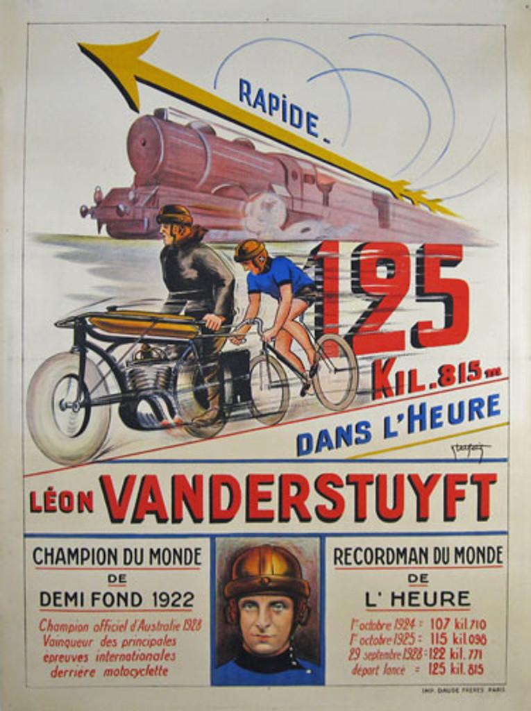 Leon Vanderstuyft Original Vintage Poster from 1928 France by Abel Petit