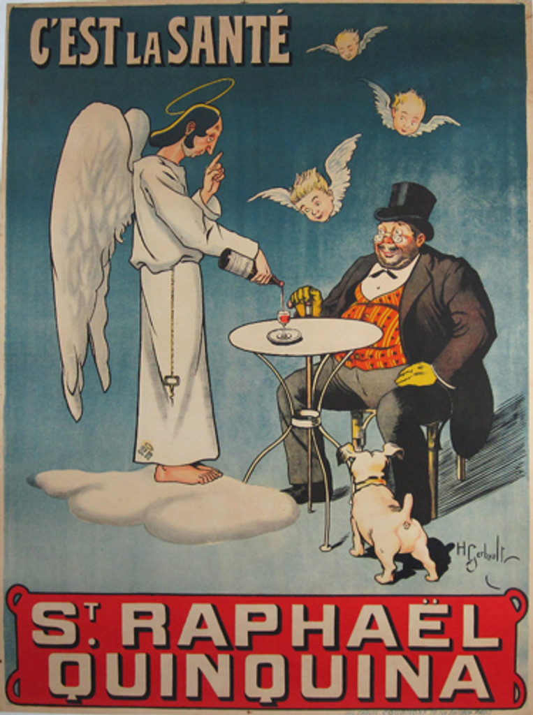 St. Raphael Quinquina original vintage French poster from 1903 by Gerbault.