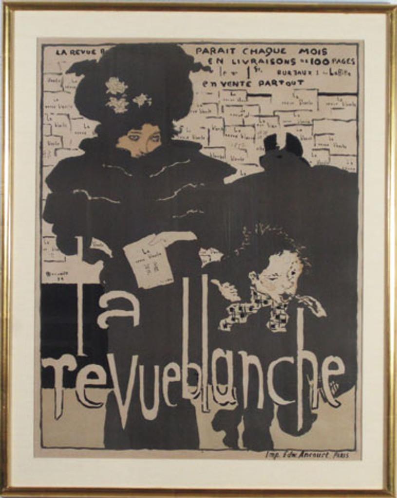 La Revue Blanche original vintage poster by famous artist Pierre Bonnard from 1894 France.