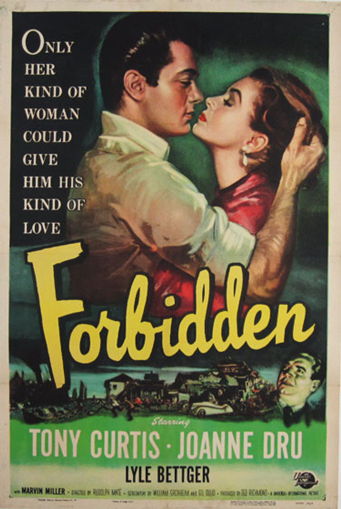 Forbidden original movie poster from 1953 USA