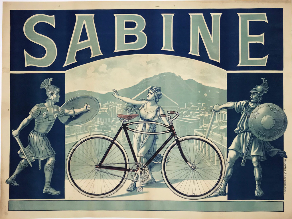 French 1910 Sabine Cycles Company Poster